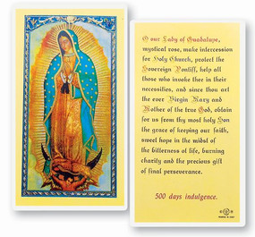 Our Lady of Guadalupe Laminated Holy Card