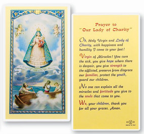 Our Lady of Charity Prayer Laminated Holy Card