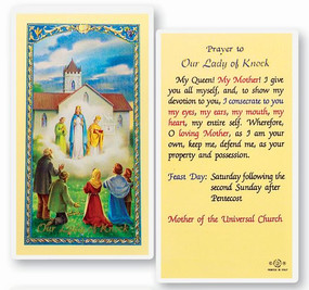 Our Lady of Knock Prayer Laminated Holy Card
