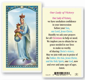 Our Lady of Victory Laminated Holy Card