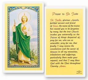 St. Jude Prayer Laminated Holy Card