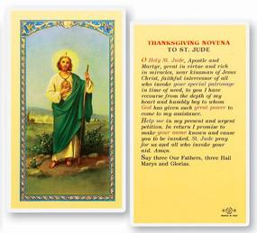 St. Jude Thanksgiving Novena Laminated Holy Card