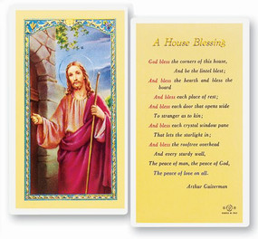 House Blessing Laminated Holy Card