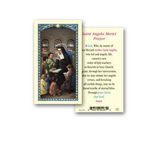 St. Angela Merici Laminated Holy Card