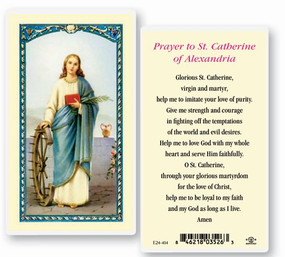 St. Catherine of Alexandria Prayer Laminated Holy Card