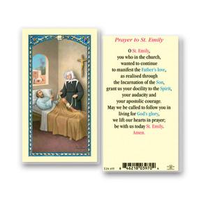 St. Emily Prayer Laminated Holy Card