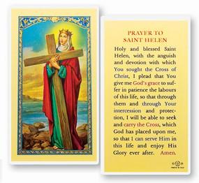 St. Helen Prayer Laminated Holy Card