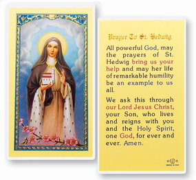 St. Hedwig Prayer Laminated Holy Card