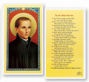 Altar Server Laminated Holy Card