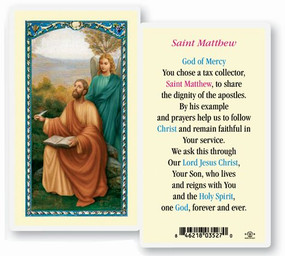 St. Matthew Laminated Holy Card