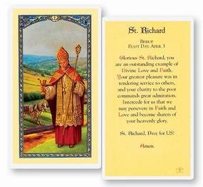 St. Richard Laminated Holy Card