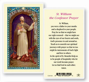 St. William the Confessor Prayer Laminated Holy Card