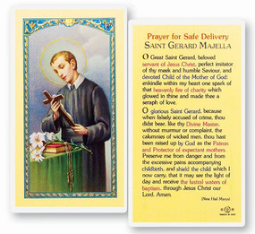 St. Gerard Majella - Prayer for Safe Deliver - Laminated Holy Card