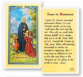St. Gerard Majella - Prayer for Motherhood - Laminated Holy Card