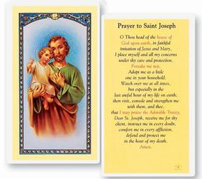 St. Joseph Prayer Laminated Holy Card