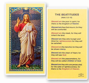 Beatitudes Laminated Holy Card