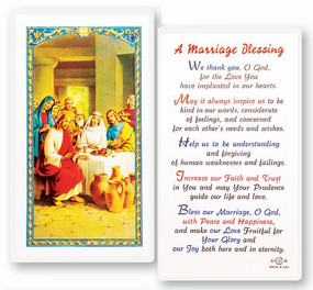 Marriage Blessing Laminated Holy Card