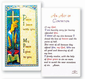 Act of Contrition Laminated Holy Card