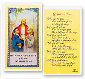 Graduation Laminated Holy Card