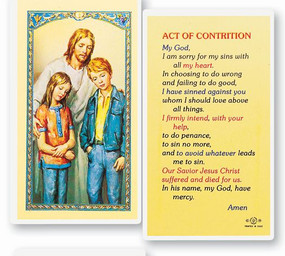 Act of Contrition (The Comforter) Laminated Holy Card