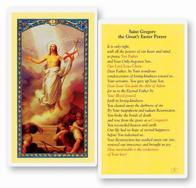St. Gregory Great Easter Prayer Laminated Holy Card