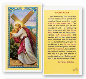 Your Cross Laminated Holy Card
