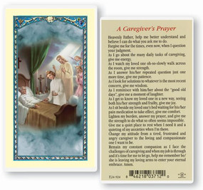 Caregiver's Prayer Laminated Holy Card