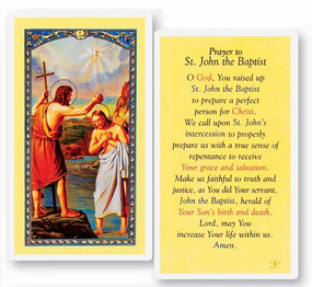 St. John the Baptist Laminated Holy Card