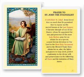 St. John the Evangelist Prayer Laminated Holy Card