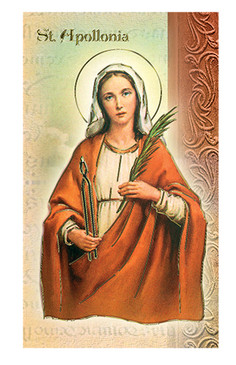 St. Apollonia Biography Card