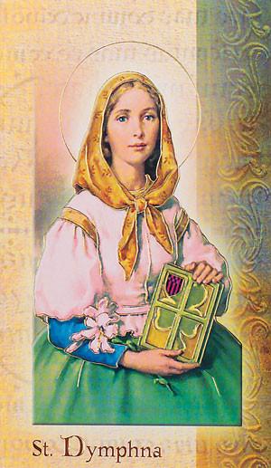 St. Dymphna Biography Card