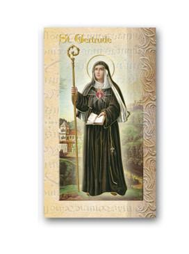 St. Gertrude Biography Card (F5-441)