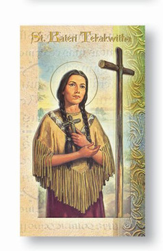 St. Kateri Tekakwitha Biography Card