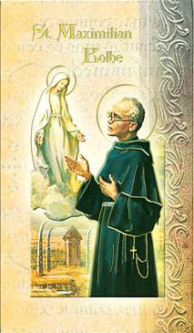 St. Maximilian Kolbe Biography Card