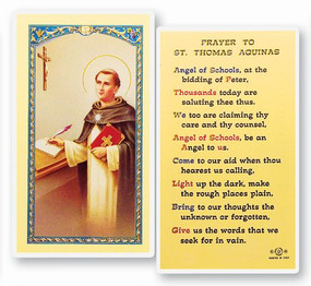 St. Thomas Aquinas Prayer Laminated Holy Card (E24-552)