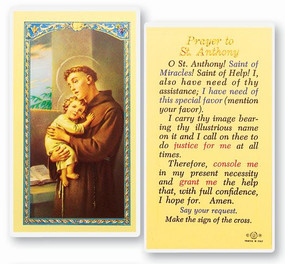 St. Anthony Prayer Laminated Holy Card (E24-300)