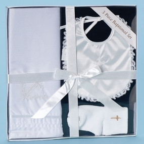 3 Piece Baptismal Set with Bib (RO-26318)