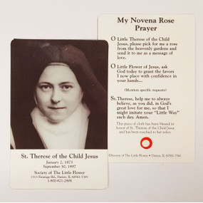 St. Therese Relic Card (SLF-906)