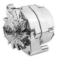PROFLOW 100A Chrome Alternator FORD 1 Wire / Internal Regulator