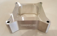 """TLG Racer Series 4150 Open Carb Spacer 2"""" High RAW"""