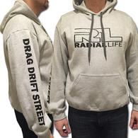 RADIAL LIFE Drift-Drag-Street Grey Hoodie