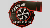 "TLG New Gen Style 3.5"" Turbo Sticker RED"