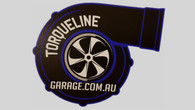 "TLG New Gen Style 3.5"" Turbo Sticker BLUE"