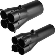 "PROFLOW Mild Steel Exhaust Slip-On Collector 2"" Primary to 3.5"""