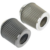 """PROFLOW 2.5"""" Inlet Pod Filter 130mm High STAINLESS"""
