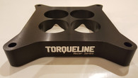 """TLG Racer Series 4150 Tapered Carb Spacer 1"""" High BLACK ANODIZED"""