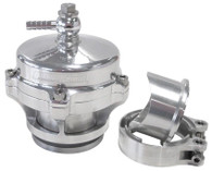 AEROFLOW 50mm Blow Off Valve with Weld-on Flange & V-Band - Polished