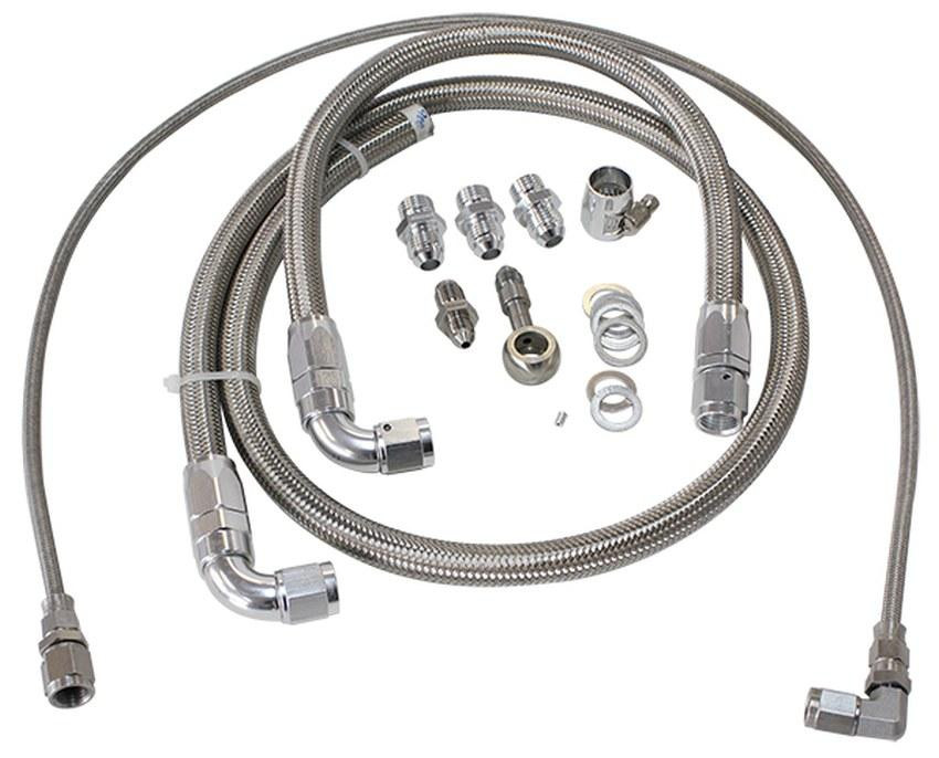 aeroflow turbo oil  u0026 water feed line kit suit nissan sr20 - s13 silvia