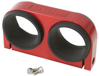 AEROFLOW Dual Billet Fuel Pump Bracket - Red