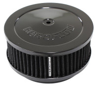 "AEROFLOW Black Air Filter Assembly - 6-3/8"" x 2-1/2"", 5-1/8"" Neck, Cleanable"